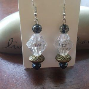Black 🖤 & Silver/ 💎Crystal/ Statement Earrings